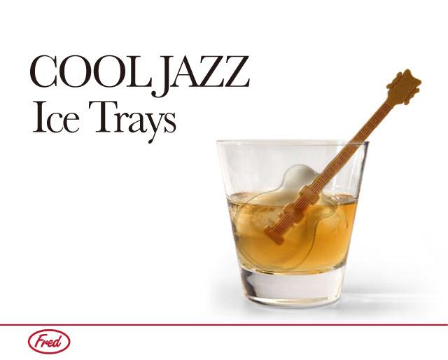 おもしろ 氷 アイストレー 製氷皿 シリコン マドラー ギター の 形 クールジャズ