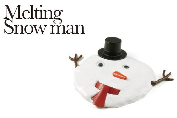 まるで本物の雪だるま!?何度でも作れる粘土「メルティングスノーマン」